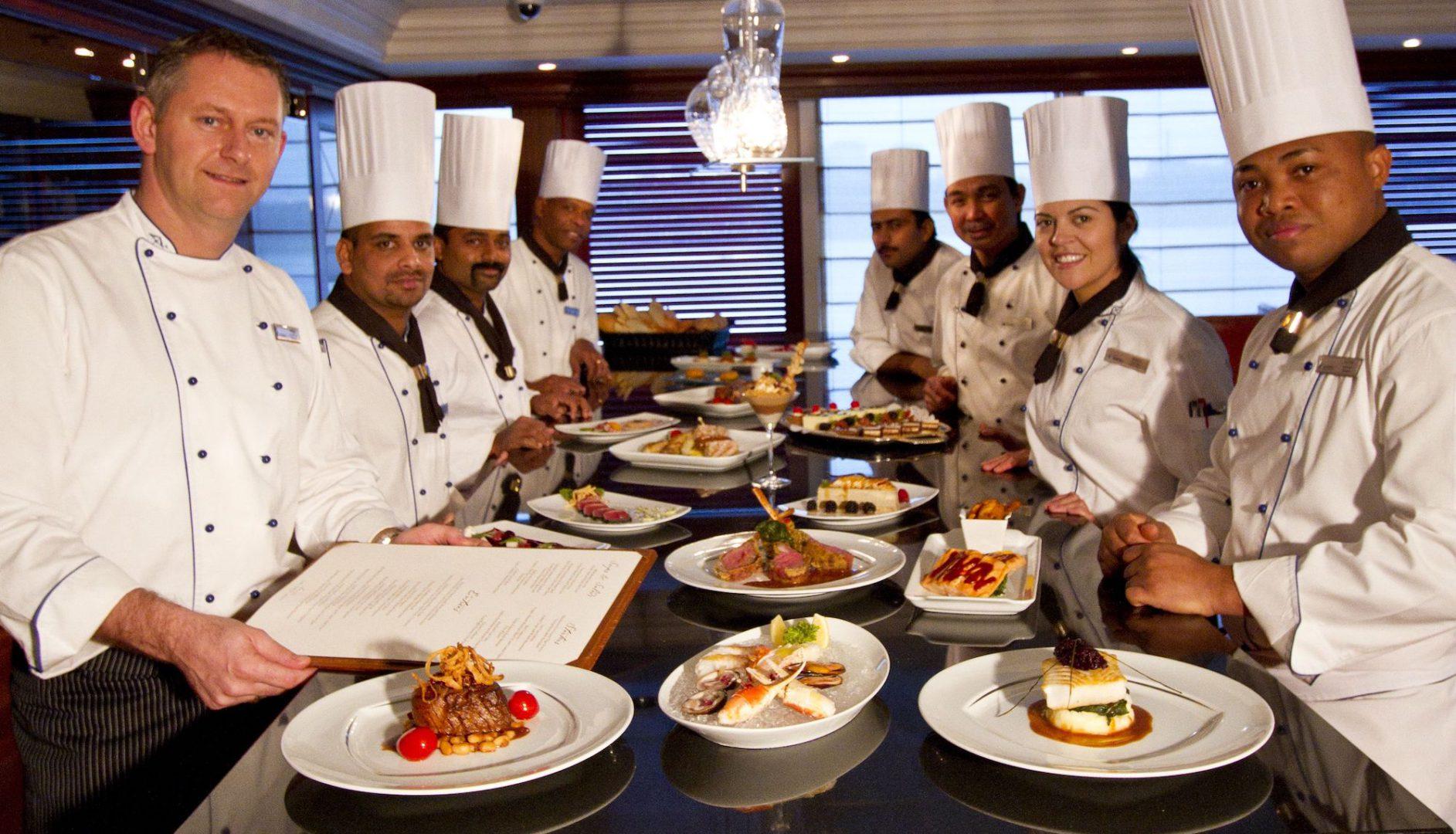 Chefs , Food, Presentation, dining , Kitchen, staff, azamara