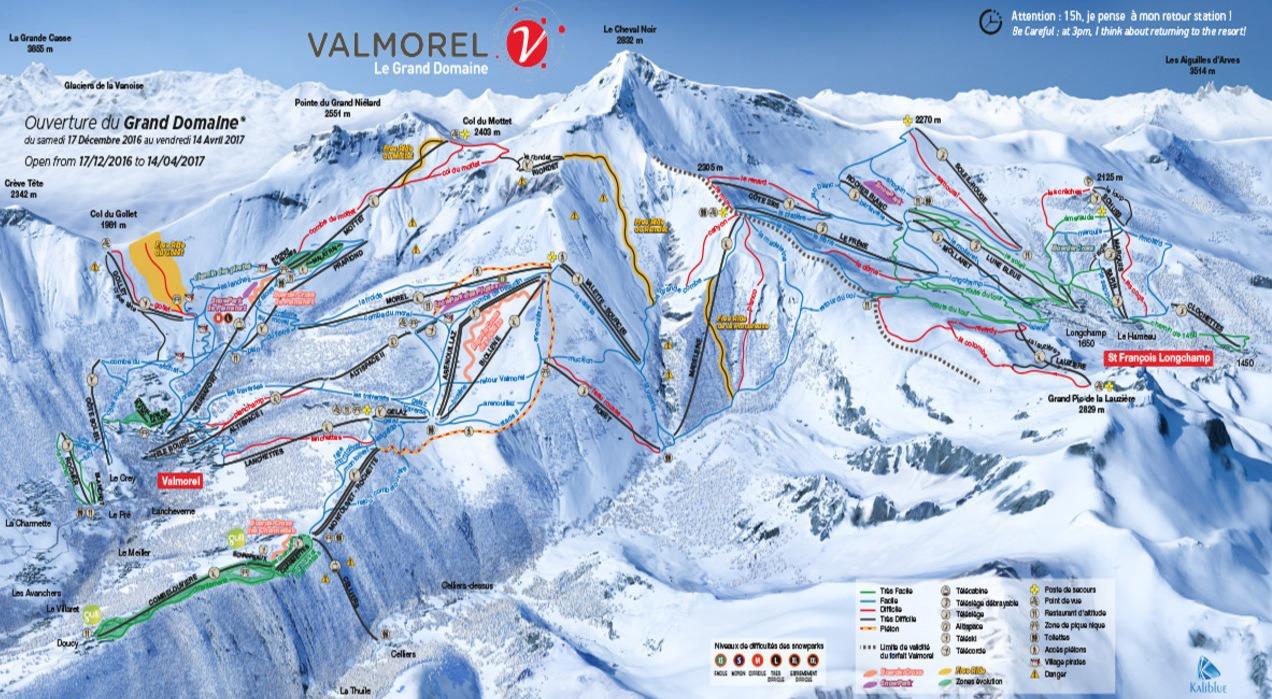 Club Med Valmorel 5 mapa