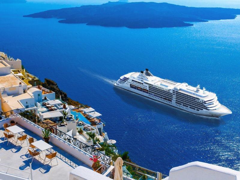 Silversea Muse Santorini