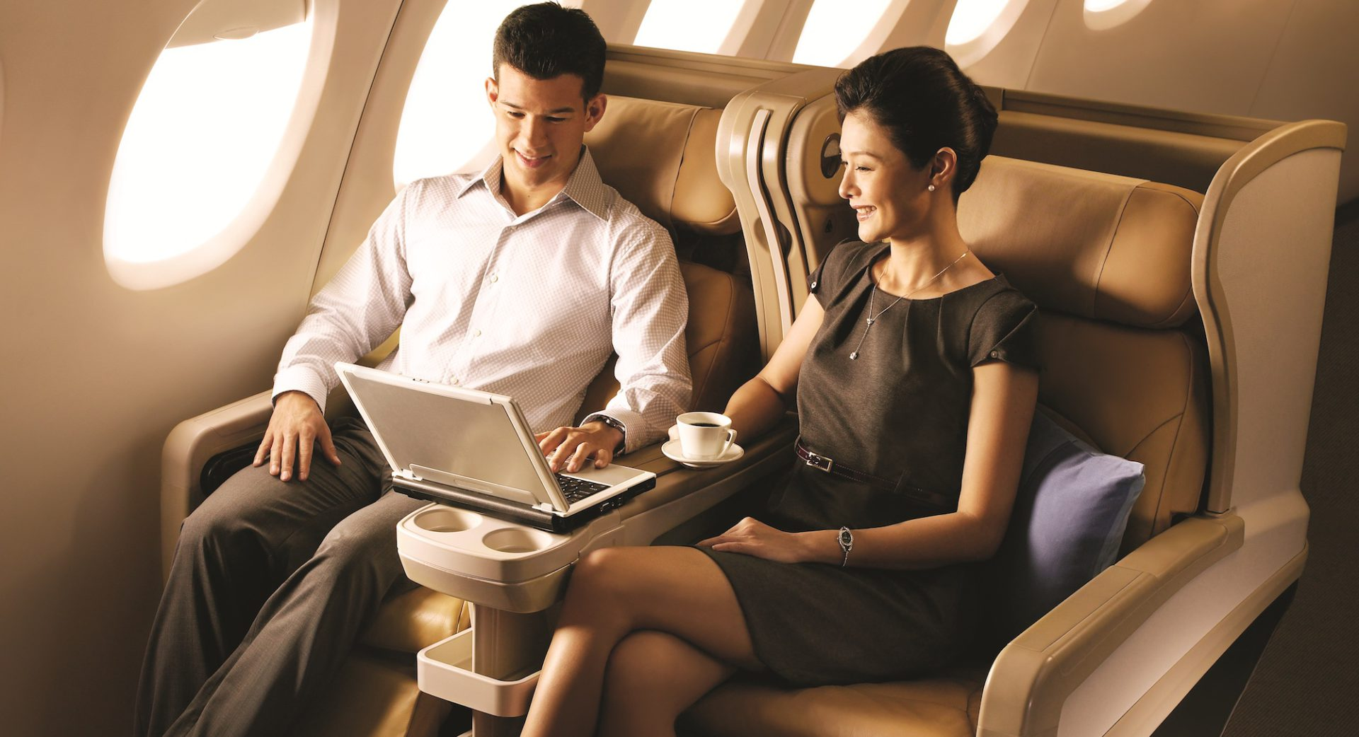 Singapore Airlines Business Class kabina 2