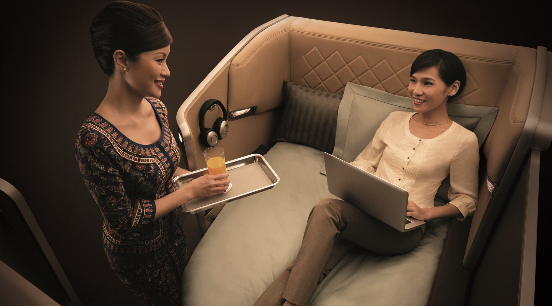 Singapore Airlines Business Class onboard serwis