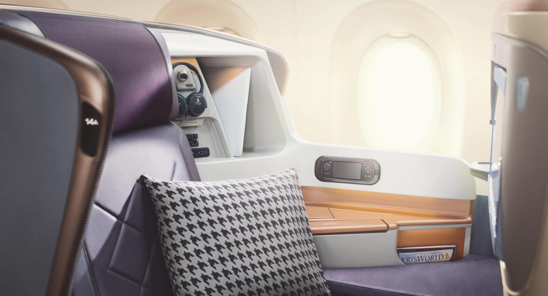 Singapore Airlines Business Class poduszki