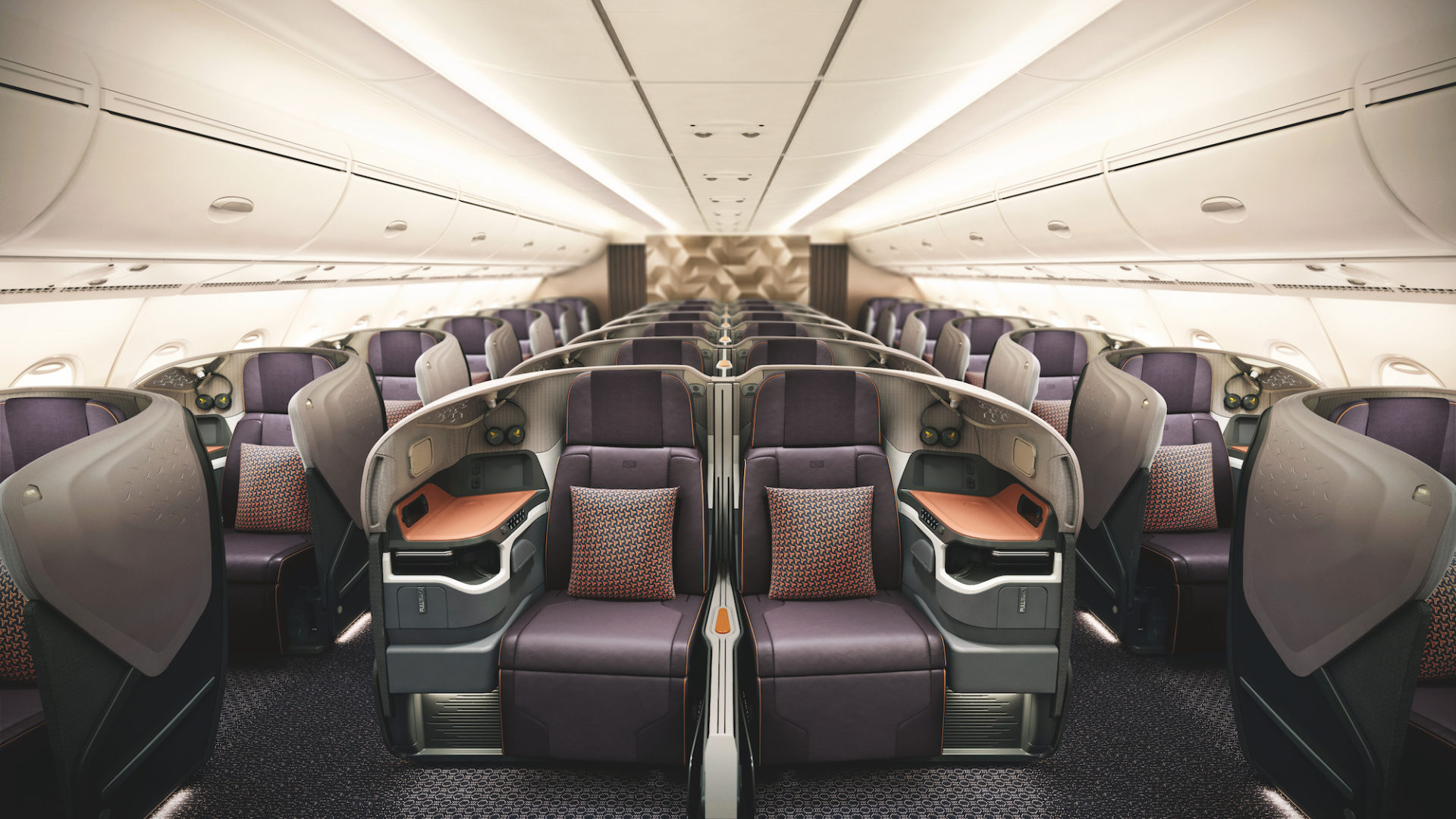Singapore Airlines Business Class widok ogolny