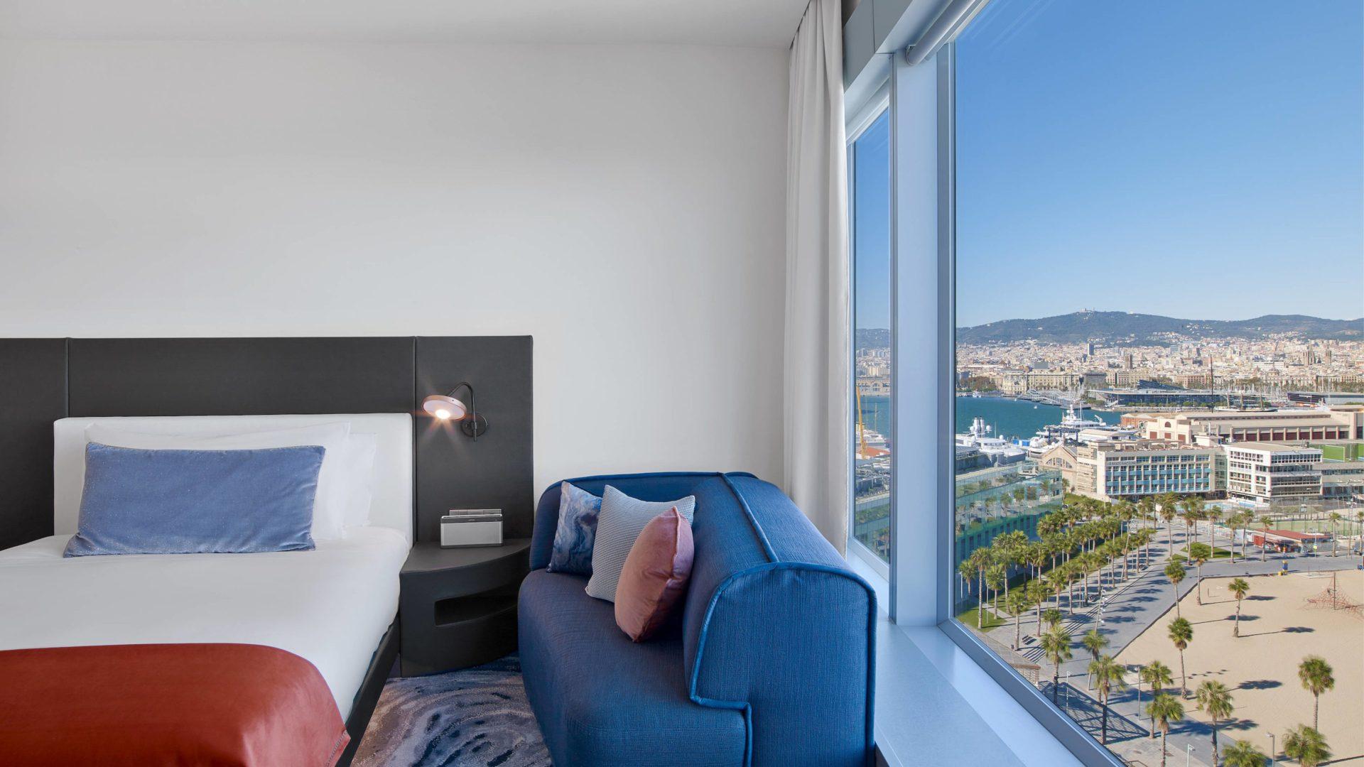 W hotel Barcelona pojok z widokiem