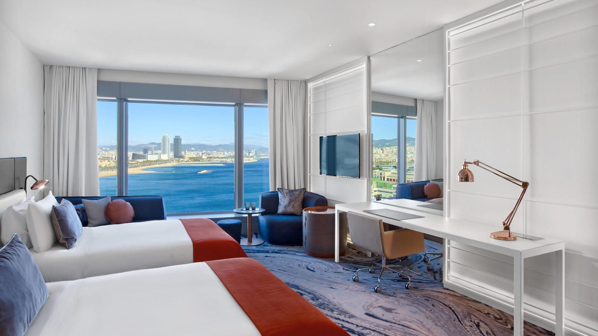 W hotel Barcelona pokoj 2