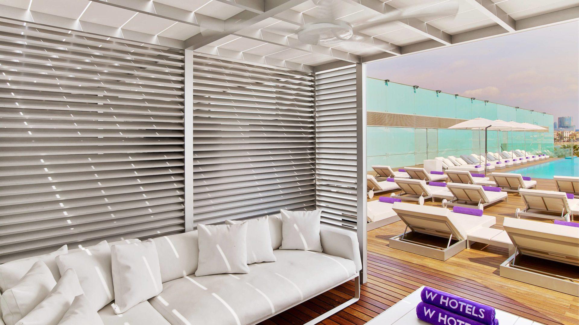 W hotel Barcelona sun deck